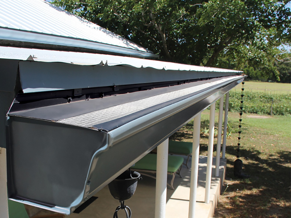 Gutters with screen protector